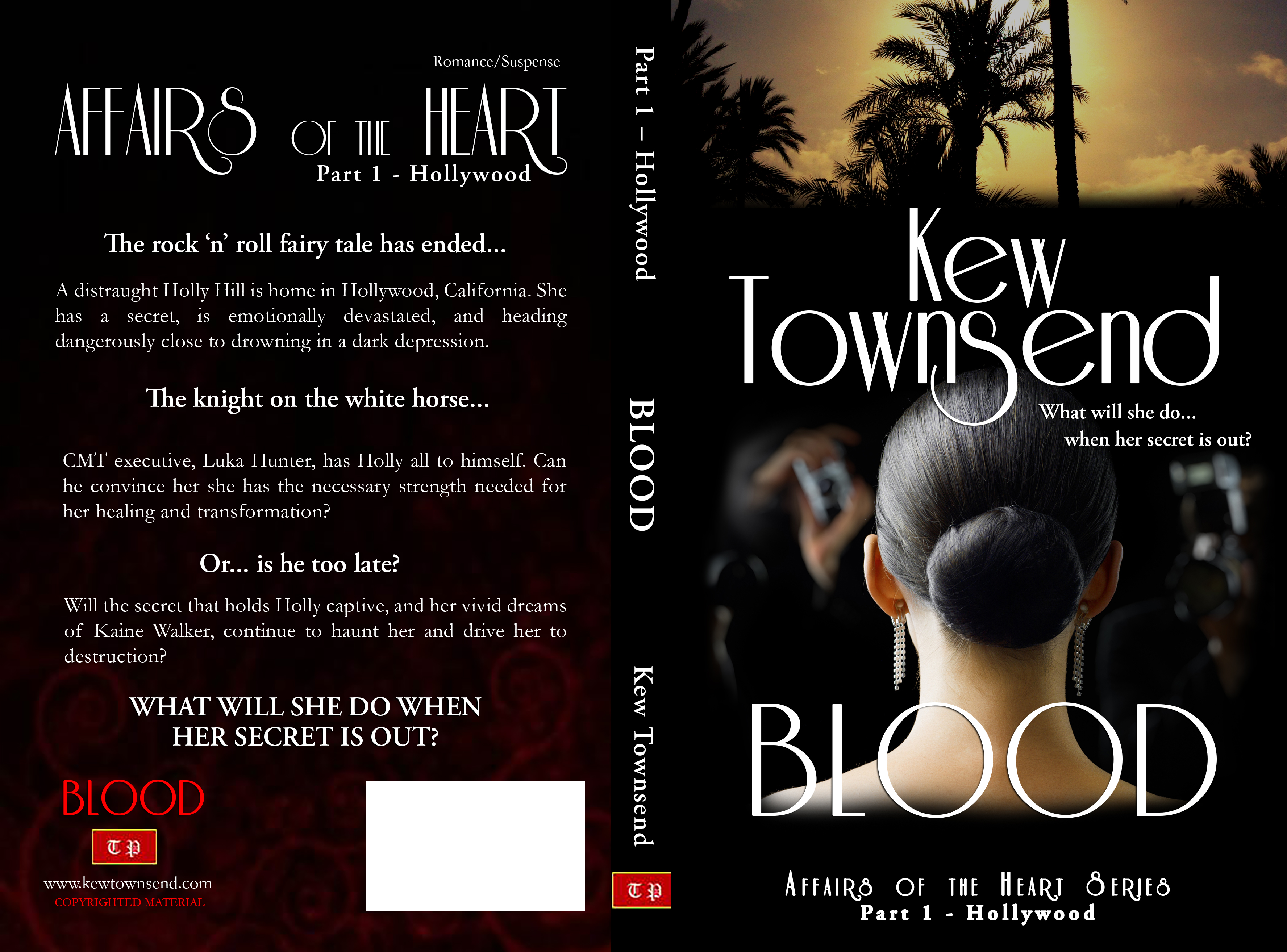 BLOOD Print Cover by Kew Townsend